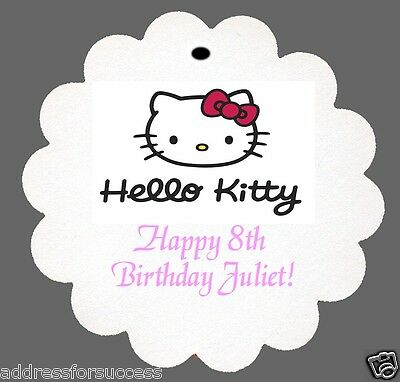 24 Personalized Hello Kitty Favor Scalloped Tags Party Favors Birthday