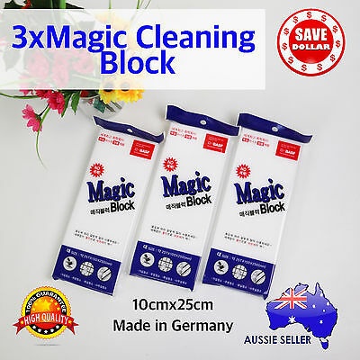 BASF GERMAN 3x Large Magic Foam Cleaning Sponge Cleaner Eraser Car Cleaning
