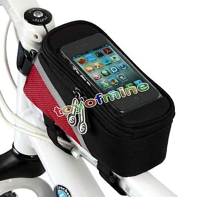 New Cycling Bike Bicycle Pannier Holder Front Frame Tube Bag For iPhone Samsung