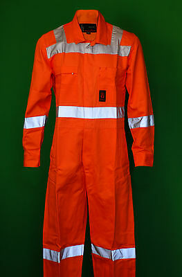 King Gee Hi-Vis Orange Overall  Reflective New in Packet Small and King Sized.