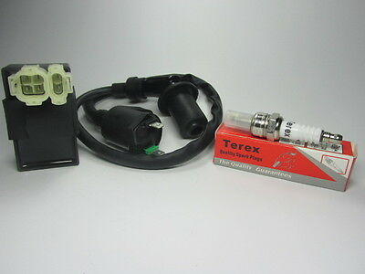 Racing Ignition Coil + CDI + Spark Plug GY6 50cc - 125cc 150cc Scooter ATV Moped
