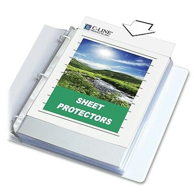 "C-Line 62617 Sheet Protectors, Top-Load, Archival, 11""x8-1/2"", 100/BX, Clear"