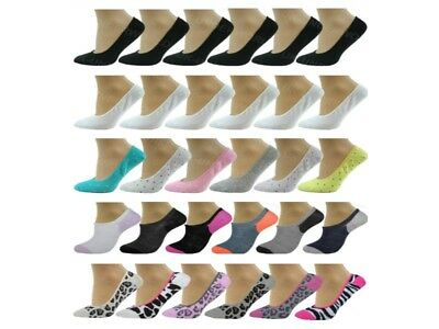 6 Pairs Ladies Womens Invisible Trainer Socks Liners Ballerina No Show Adults