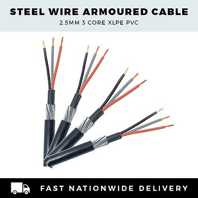 Swa Armoured Cable 2.5Mm 3 Core Cut To Length Per Metre
