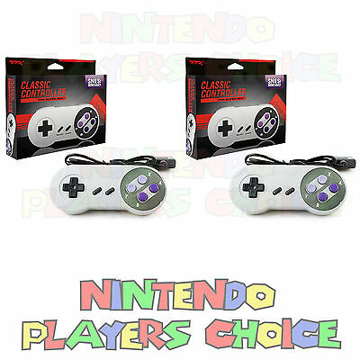 2 Two Super Nintendo SNES Controllers - BRAND NEW IN BOX - Fast Ship USA Seller