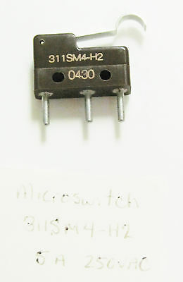 Honeywell Microswitch 311SM4-H2, SPDT, On Momentary, 5A 250VAC 30VDC PC Pin