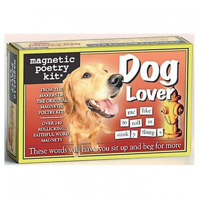 Fridge Magnetic Poetry Kit - Dog Lover | fridge magnet magnets words letters
