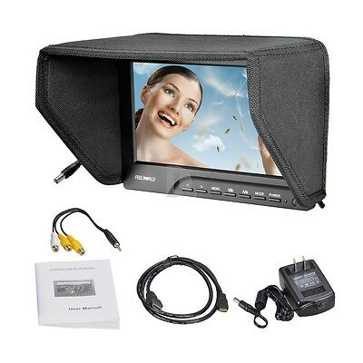 """US FEELWORLD 5D-III 7"""" Color Monitor 1080P HDMI Video Peaking Filter"""