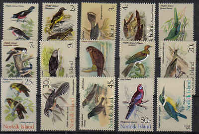 STAMPS  NORFOLK  ISLAND  SELECTION  1970-71 BIRDS      (MNH)   lot 31