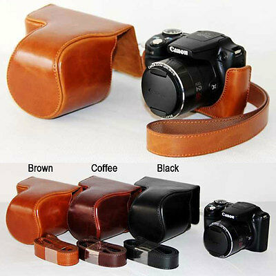 Leather Camera case bag Grip for canon PowerShot SX500 IS SX510 HS