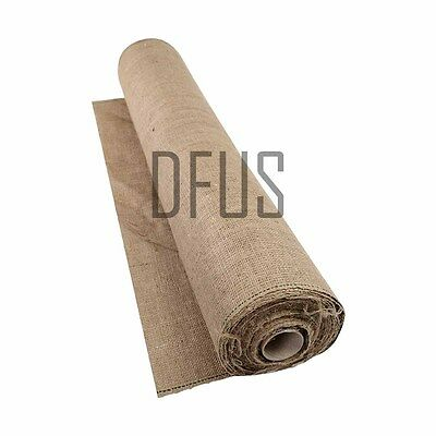 10mtr roll Hessian. Jute sack fabric, for crafts, rug making, gardening etc
