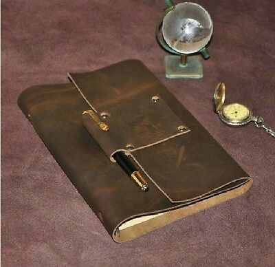 NEW A5 Large Handmade Blank Retro Leather Diary Bound Travel Journals Note books