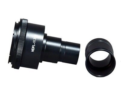 Microscope Adapter w 2X Lens for Nikon DSLR Camera +23.2-30.5mm Step-Up Sleeve