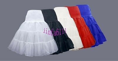 Knee Length Skirt Slips Petticoat crinoline underskirt pannier bustle 7 Colors