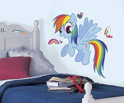 New Giant RAINBOW DASH WALL DECALS My Little Pony Stickers Girls Horse Decor