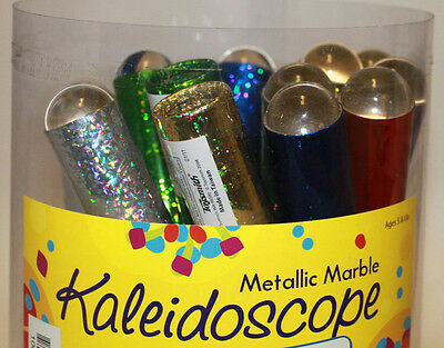"""1 PC Metallic Marble Kaleidoscope 6 Colors To Choose From 8"""" x 1"""" FREE SHIPPING"""