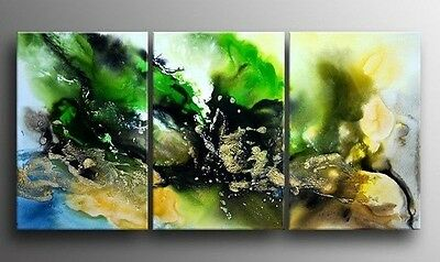 3 Pc Large Modern Abstract Oil Painting On Canvas Handmade (No frame)H-001