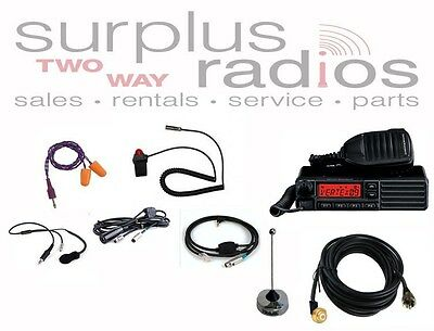 Vertex VX-2200 VHF 128CH 50W Complete Race Car Radio Package Offroad Track