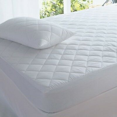 Top Quality Quilted Mattress Protector Cover Single Double King OR Pillow Cover