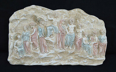 Olympian Gods Sculpture  relief from Ancient Greek mythology artifact
