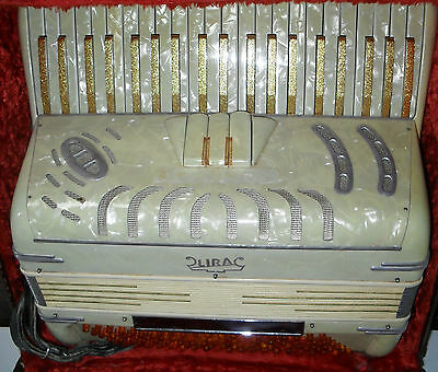 Vintage Lira  Accordion Model 10 Made In Italy -Used in good shape original case