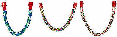 Multi-Coloured Rope Bird Perch Flexible with Double Ended Fittings in 3 Sizes
