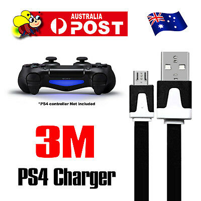 3M USB PS4 Controller Charging Charge Charger Power Cable For Play Station 4