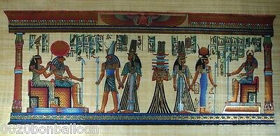"8 Pharaoh Egyptian Gods Kings Original Hand Painted Papyrus 48""X24""(120x60 Cm)"