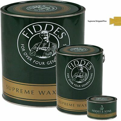 Fiddes Supreme Stripped Pine Wood Wax Polish/Restorer For Furniture & Woodwork