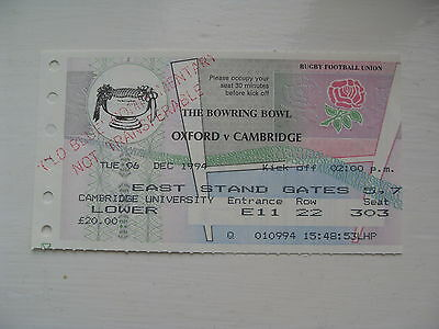 Oxford v Cambridge 1994 Used Rugby Ticket