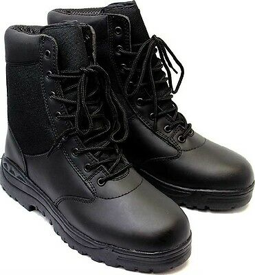 """Tactical Boots 8"""" Black Police Military Security EMT EMS Tactical Boots 5064"""