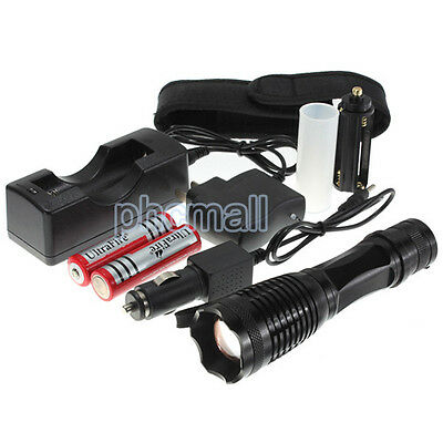 UltraFire 2200 Lumen CREE XM-L T6 LED Flashlight Torch Zoomable 18650 Charger