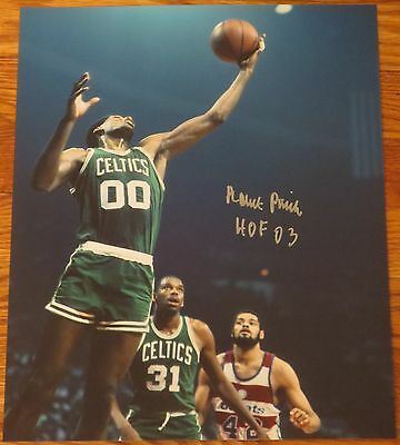 Robert Parish Signed 11X14 Photo Boston Celtics The Chief Auto Hof Exact Proof A