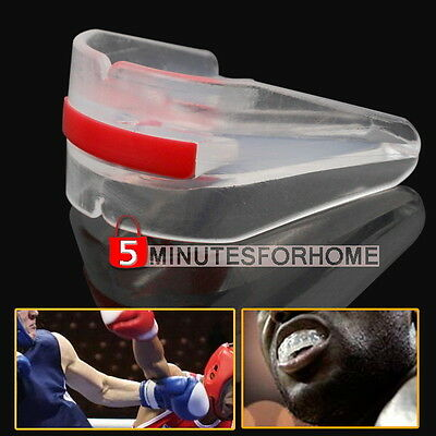 Boxing Mouth Guard Teeth Protector Sports MMA Rugby Football Basketball Clear