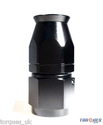 AN -6 (AN6) STRAIGHT Stealth Black Teflon Hose Fitting