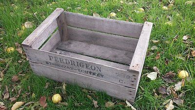 "Vintage Wood ""pre War"" Pear Fruit Crate Rustic Old Bushel Box Shabby Chic"