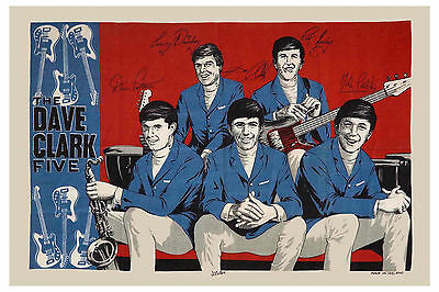 British Invasion: The Dave Clark Five Promotional Tribute Poster from 1964