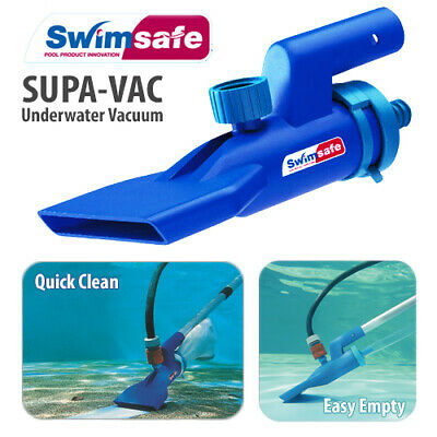 Supa Vac Pool Spa Pond Fountain Underwater Vacuum Cleaning Kit w/ Scoop