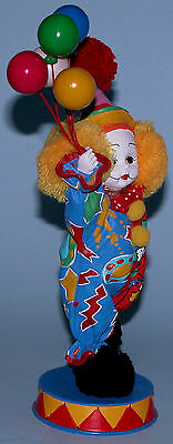 """Madame Alexander resin doll figure, """"Happy the Clown""""  #91710, circus, balloons"""