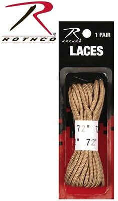 "Boot Laces 72"" Nylon Tan Military Boot Laces Combat Boot Laces (1 Pair) 7159"