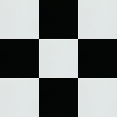 Pure Black & Pure White 47Cm X 47Cm Checker Retro Vinyl Tiles Save 60% On Retail
