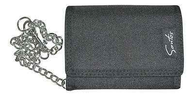 Kids Boys Mens Black Nylon Ripper Wallet With Belt Key Chain Rl1964