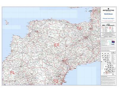 Postcode Sector Map 2 North Devon - Suitable for Magnets