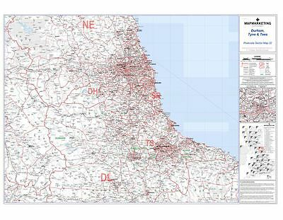 Postcode Sector Map 22 Durham, Tyne and Tees (Newcastle Upon Tyne) (Paper)