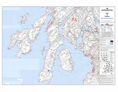 Postcode Sector Map 24 Islay and Kintyre (Paper)