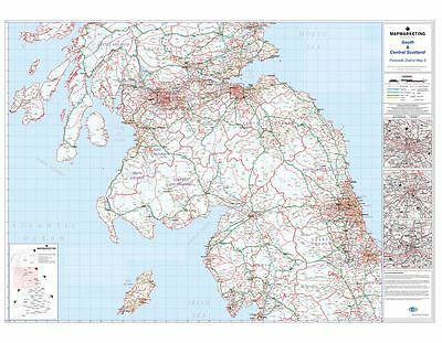 Postcode District Map 5 Scotland Glasgow Edinburgh Newcastle (Paper)