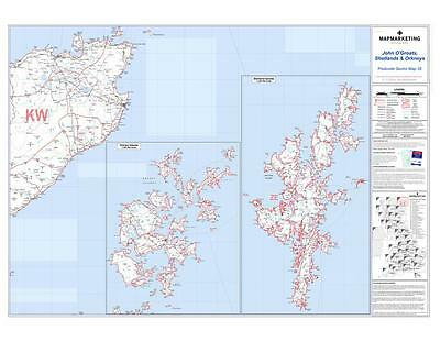 Postcode Sector Map 35 John O'Groats, Shetlands and Orkneys - Use with Magnets