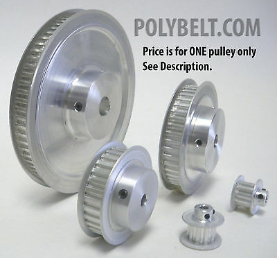 48XL037 Aluminum Timing Belt Pulley 48 Tooth, 3/8 Bore, 2 Flanges, 2 Set Screws