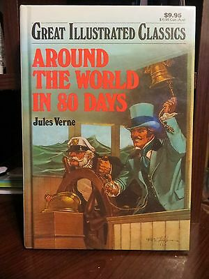 Great Illustrated Classics Around the World in 80 Days- V. 1 by Jules Verne