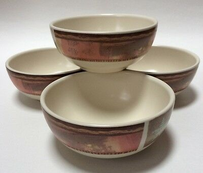 4 Pfaltzgraff USA Holiday Spice Soup Cereal Bowls